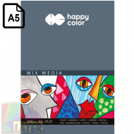 Blok Mix Media 200g Happy Color A5 - happy_color_mix_media_200gsm_a5_25krt_ha_1520-a25_later_plastyczne_lublin_pl_01.png